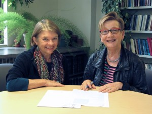 photo of Margaret Ferguson and Marianne Hirsch
