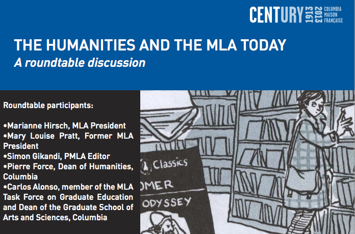 The Humanities and the MLA Today