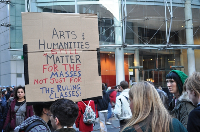 Protest in support of the arts and humanities